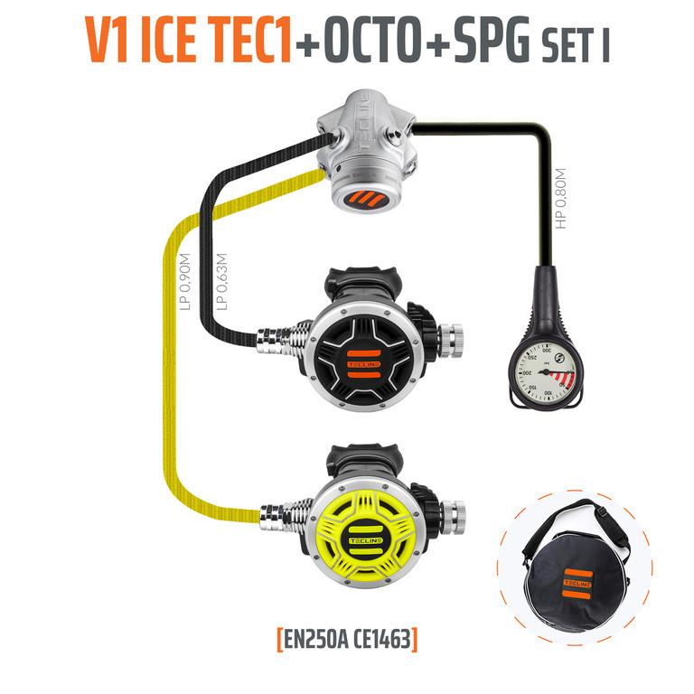 V1 ICE TEC1 zestaw octopus manometr