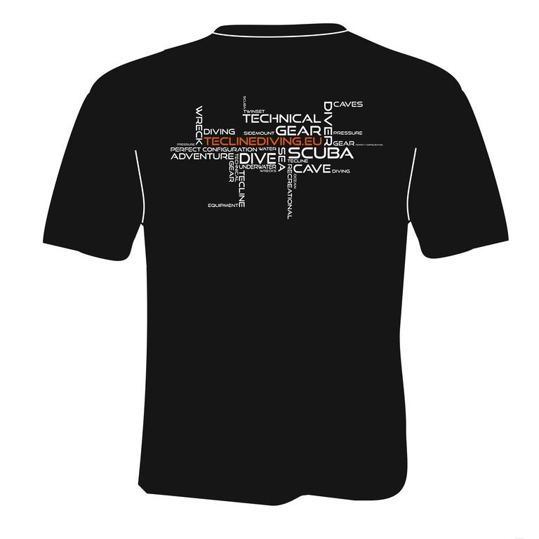 Koszulka nurkowa TECLINE HIGH PRESSURE (logo = manometr / rozmiar do wyboru)