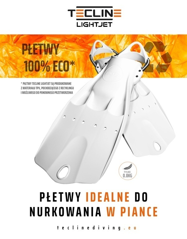 PÅ'etwy Tecline LIGHTJET - idealne do nurkowania w piance