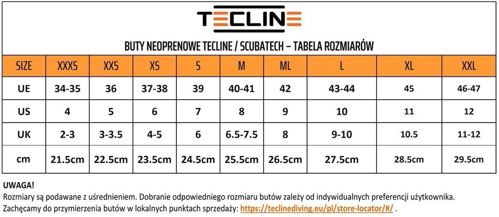 Buty Neoprenowe Tecline 5mm (idealne do morsowania)